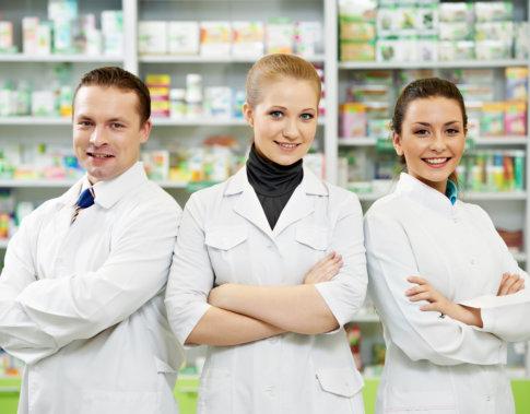 three pharmacists smiling