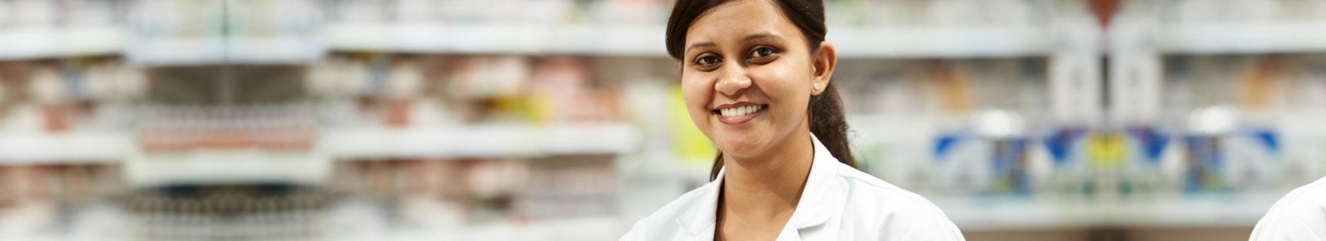 pharmacist doing medicines inventory